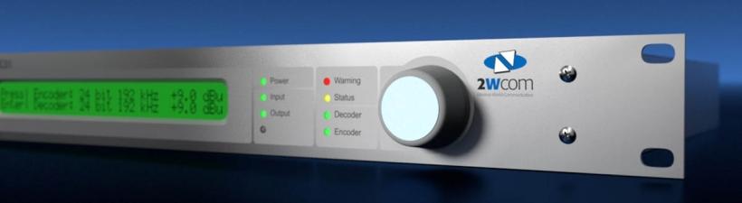 2wcom FMC01 – профессиональный одноканальный FM-MPX over IP или Е1 кодек с SFN синхронизацией и малой задержкой