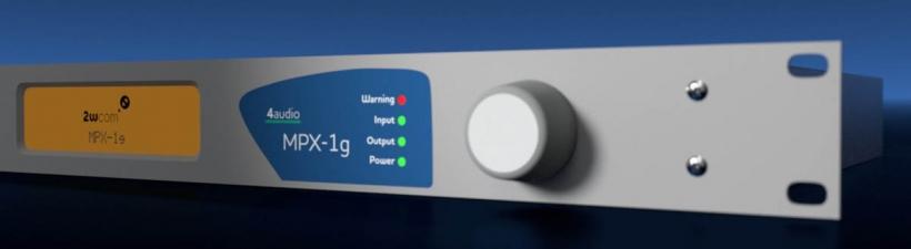 2wcom's 4audio MPX-1g - это универсальное устройство «все в одном», включающее RDS-кодер, стереокодер, AoIP / MPXoIP кодер и FM / DAB приемник-ретранслятор