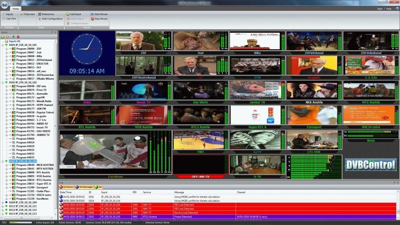 DVBMosaic - система многоканального визуального и автоматического мониторинга вещания
