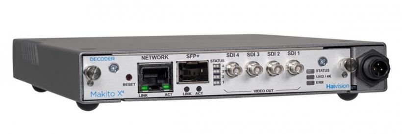 Haivision Makito X4 - видео декодер 4K HEVC и HD H.264 для IP стриминга