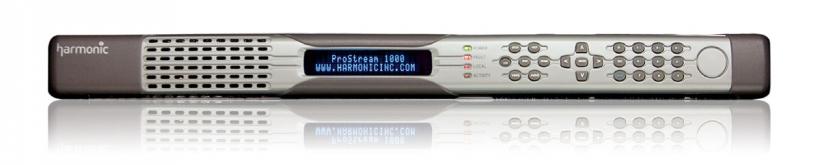 Harmonic ProStream™ 1000 – оборудование цифрового ТВ, решение для мультиплексирования, скремблирования, дескремблирования и статистического мультиплексирования видео стандартной и высокой четкости (SD и HD MPEG)