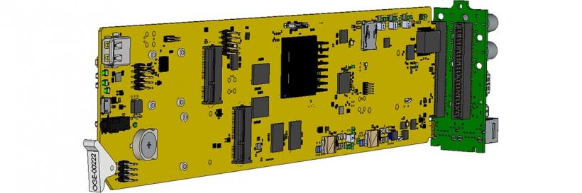T9261-OG-EB – карта компактного видео кодера IP/OTT/HLS SD/HD H.264(AVC)/MPEG-2(H.262) для openGear шасси