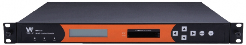 Wellav UMH160R – многофункциональный профессиональный приемник-декодер (ресивер) DVB-C/QAM, DVB-S/S2, DVB-T/T2, многоканальное дескремблирование (CI или BISS), мультиплексирование, транскодирование и трансмодуляцию, поддерживает декодирование SD/HD MPEG2/