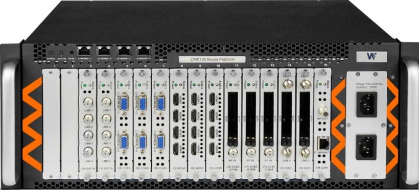 Wellav CMP-100 - расширенная экономичная головная станция DVB-S/S2/C/C2/T/T2, трансмодулятор DVB-S2, IP QAM модулятор, мультиплексор, кодер, приемник